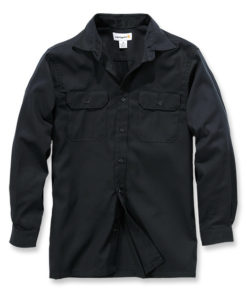 CARHARTT Twill Long Sleeve Work Shirt svart