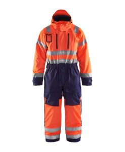 Blaklader 6763 Varseloverall Vinter varselorange marinbla