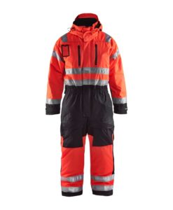 Blaklader 6763 Varseloverall Vinter varselrod svart