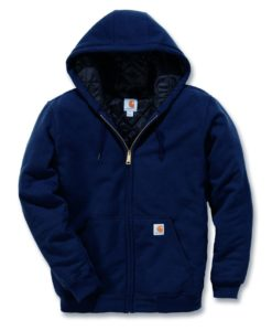 CARHARTT 3-Season Zip Hooded Sweatshirt New Navy