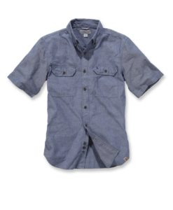 CARHARTT Fort Solid Shirt Short Sleeve khaki blue