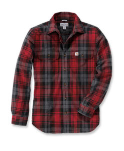 CARHARTT Hubbard Slim Fit Flannel Shirt red
