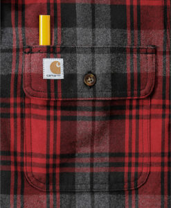 CARHARTT Hubbard Slim Fit Flannel Shirt red D1