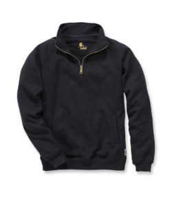 CARHARTT Midweight Quarter Zip Mock Neck Sweatshirt Black