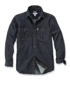CARHARTT Rugged Flex Patten Denim Shirt black