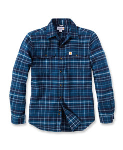 CARHARTT Trumbull Slim Fit Flannel Shirt blue