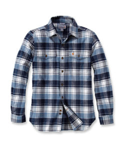 CARHARTT Trumbull Slim Fit Flannel Steel blue