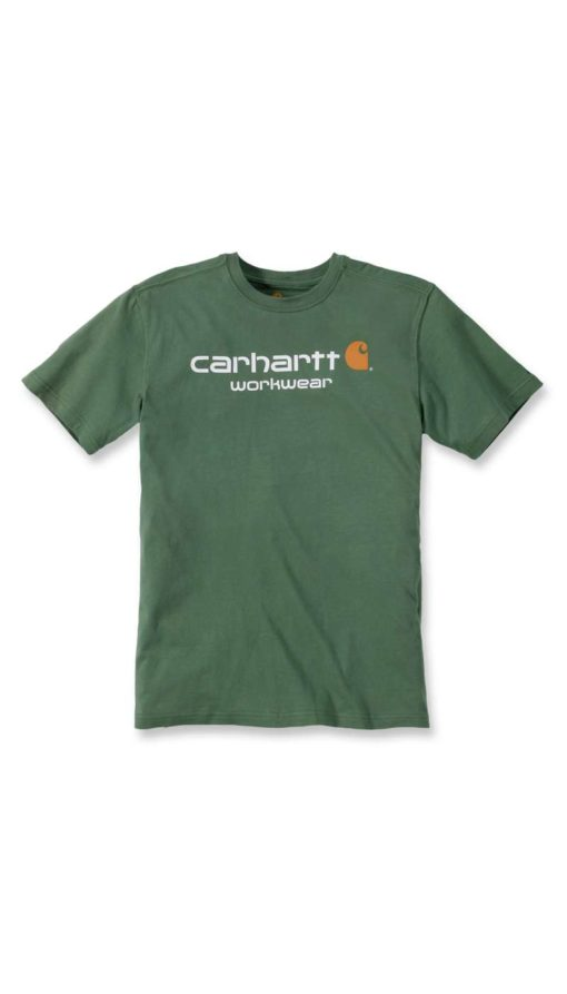 CARHARTT Core Logo Short Sleeve T-Shirt Alpine green