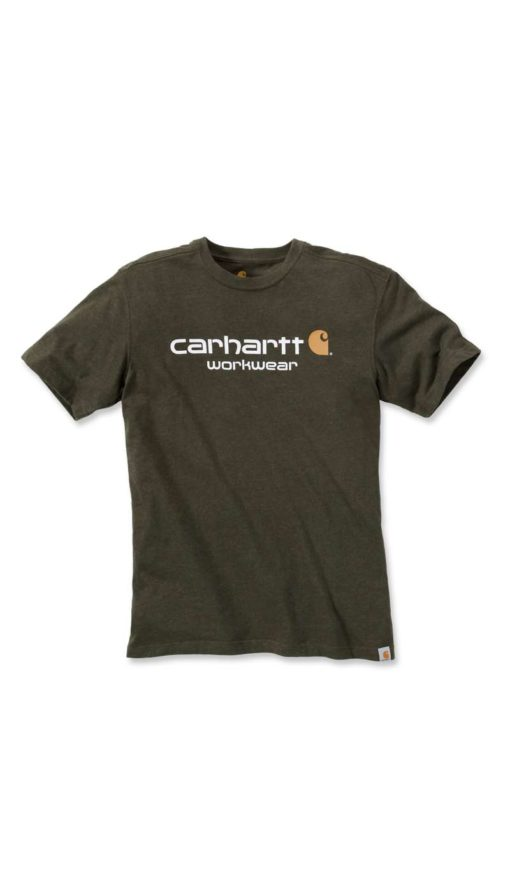 CARHARTT Core Logo Short Sleeve T-Shirt Carbon