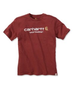 CARHARTT Core Logo Short Sleeve T-Shirt Chilli red