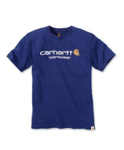 CARHARTT Core Logo Short Sleeve T-Shirt Navy