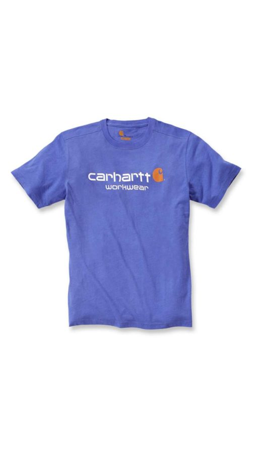 CARHARTT Core Logo Short Sleeve T-Shirt Tidal blue
